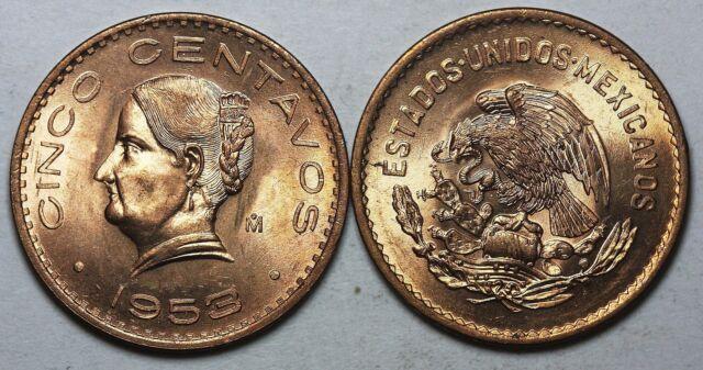 1953 Mo Mexico 5 Centavos CHBU UNC!