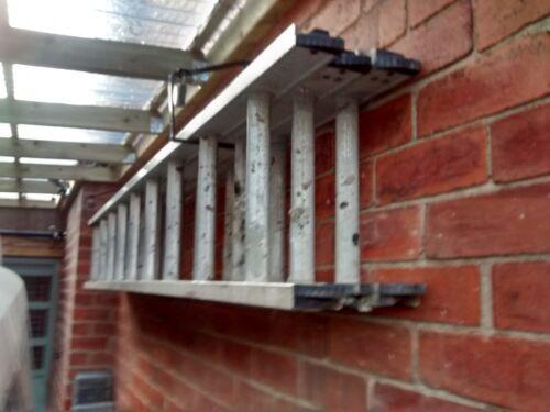 2 x Ladder Storage Hooks Brackets Heavy Duty Lockable 20KG Rolson Quality Tools