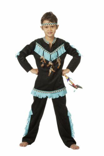 WIL Kinder Kostüm Indianer schwarz-blau Karneval Fasching
