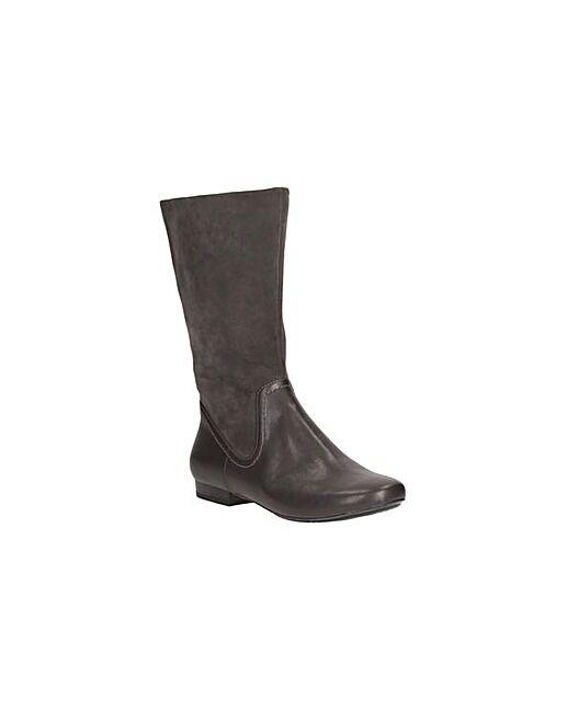 Damenschuhe Clarks ladies Mountain Mist Dark Charcoal Leder Flat Heel Stiefel 5.5D