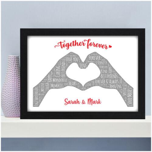 Personalised Couples Gift for Her Him Girlfriend Boyfriend Valentine Anniversary