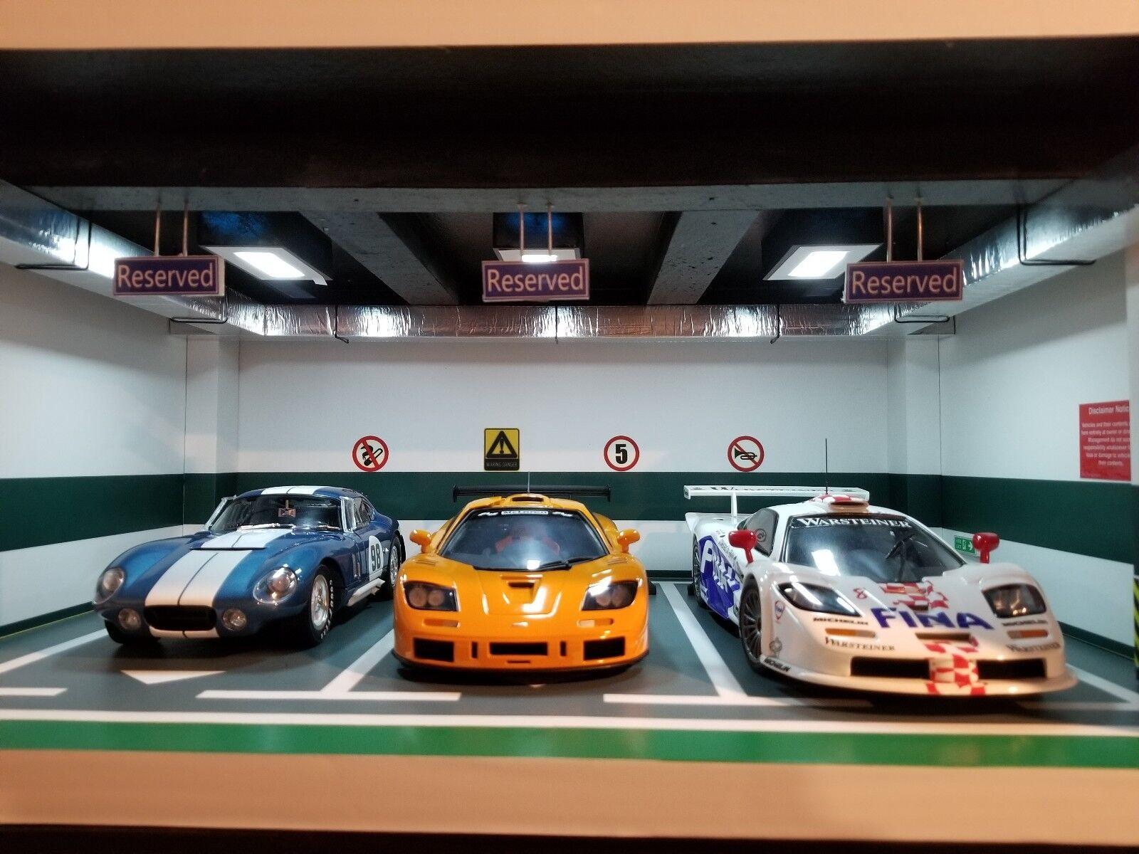 CMC,bilkonst,GMP,BBR, Classic billectables a 3 bildiorama parkeringarplats för 1 18