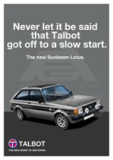 Talbot Sunbeam Lotus A3 Poster Advert