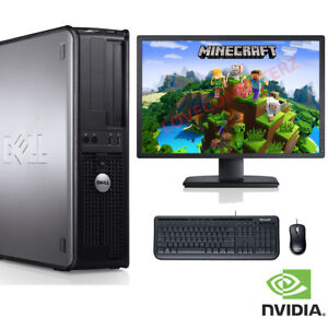fast gaming dell bundle tower pc set computer system quad core 8gb