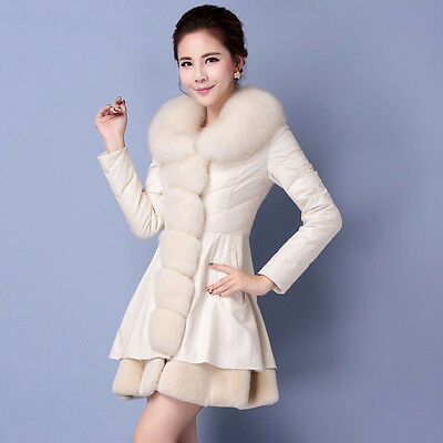 Fashion Womens Winter Slim Down Jacket Coat Cotton Warm Long Collar Coat Outwear