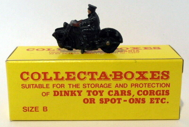 Vintage Dinky 37B - Police Motorcyclist - in Collectabox