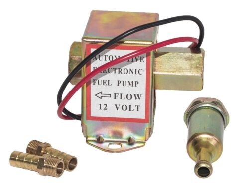 12V In-line Fuel Pump Universal Petrol Diesel Filter Electric Low Fuel Pump