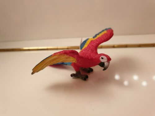 Schleich Papagei Ara Wild Life NEU mit Fähnchen