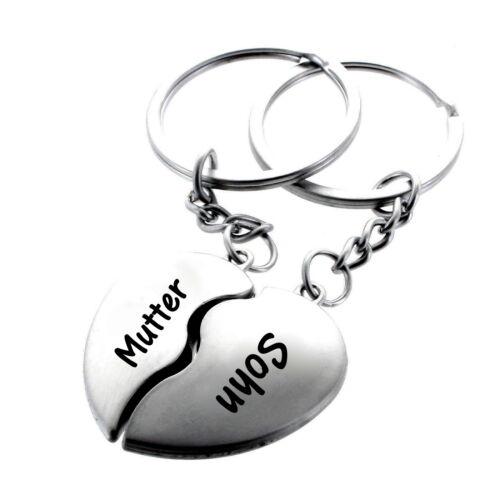 Familie Schlüsselanhänger mit Aufschrift Herz geteilt Geschenk