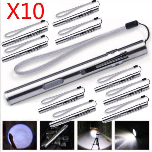 10X Rechargeable 8000LM Pocket Tactical Flashlight Mini Torch LED Pen Light Lot