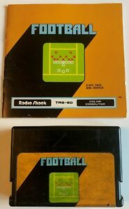 Football-Game-Cartridge-for-TRS-80-Color-Computer-Radio-Shack-Includes-Manual