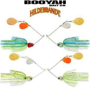 Booyah 1//2 oz Orange Double Colorado JC Covert Spinnerbaits Choice of Colors