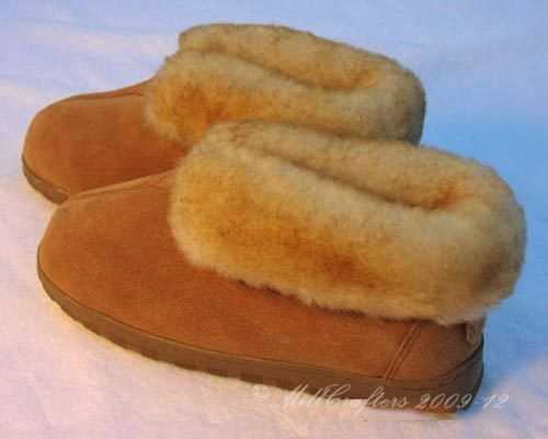 NEW Uomo BEST SHEEPSKIN BOOTIE MOCCASIN SLIPPERS SIZE 8 9 10 11 12 13 14 N0975BM