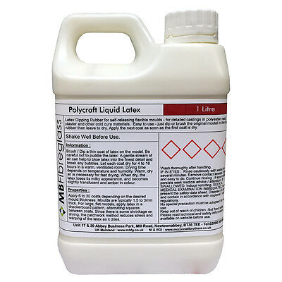 Polycraft Rubber Liquid Latex Rubber - Used for Mould Making / Masks / SFX