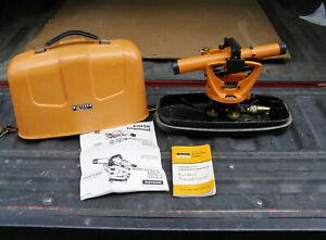 Dietzgen-Series-6375-Surveyor-039-s-Transit-w-Case-Plumbob-amp-Manuals