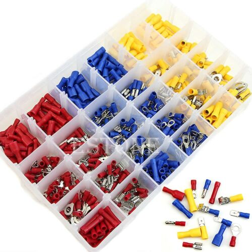 480pcs//Set Assorted Insulated Terminals Crimp Connectors  Electrical Wire Spade