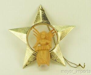 German-Set-of-12-Vintage-Christmas-Angel-Star-Ornament