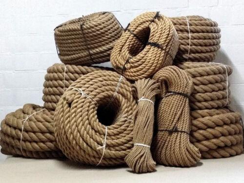 Jute Hanfseil ohne Zusatzstoffe 35 mm Seil 15 m Handlauf