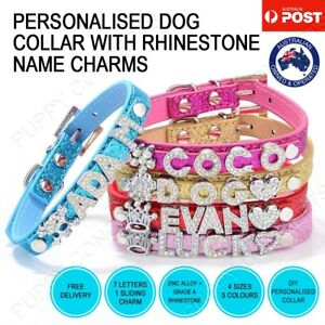 DIY-Personalised-Leather-Collar-Pet-Dog-Cat-Puppy-Kitten-Bling-Gloss-Name-Charm