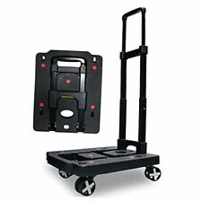 Portable Folding Hand Truck 110 Lbs Heavy Duty Luggage Cart With 4 Rotate