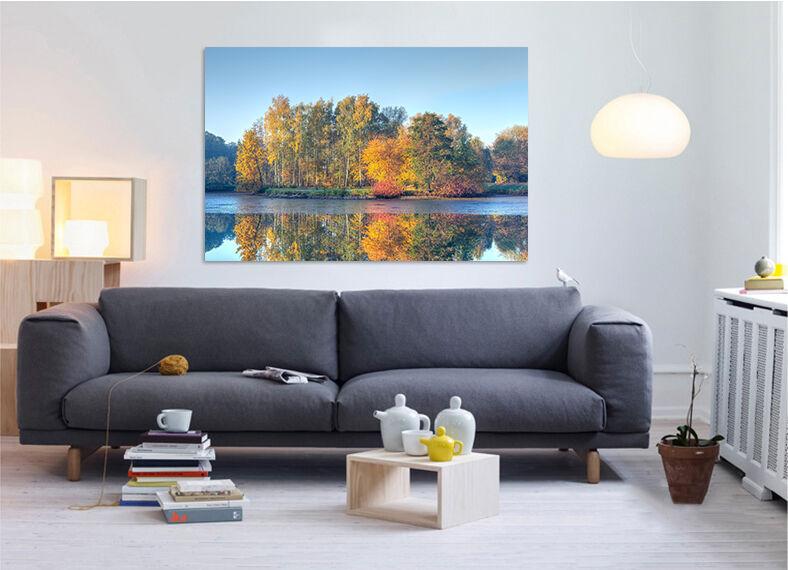 3D See farbige Wlder 636 Fototapeten Wandbild BildTapete Familie AJSTORE DE