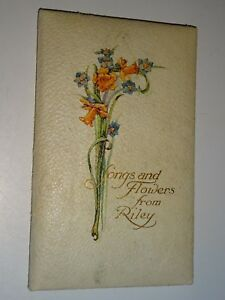 songs and flowers from riley victorian gift book poetry quotes