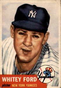 1953 Topps #207 Whitey Ford VGEX Yankees 400266