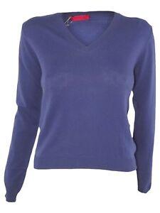 Caricamento dell immagine in corso prada -maglia-maglioncino-donna-viola-cashmere-scollo-v- 3d8f0142866