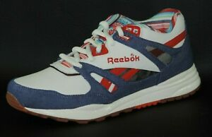 Reebok-Ventilator-1-183717-Mens-Shoes-Classic-Sneakers-Leather-Canvas-White-Blue