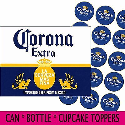 Corona Beer Edible Cake Topper