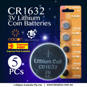 5-x-CR1632-3V-Lithium-Batteries-STOCK-IN-Melbourne-Button-Coin-CR-1632-CR-1632