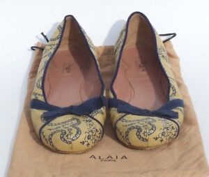 for sale footlocker cheap sale 100% guaranteed Alaïa Raffia Bow Flats discount price Sse4614W