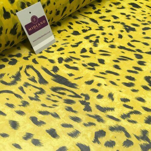 Tiger oro Animal Printed Crepe Vestido De Gasa De Tela 150 cm MK1190-29 mTEX