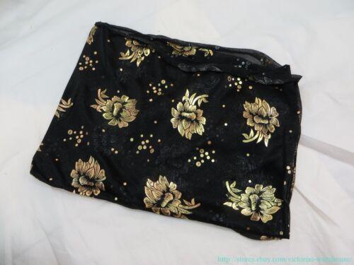 US SELLERwomen fashion gold print trendy scarf square shawl