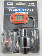 Trail Tech TTO Temperature Meter Digital Gauge 19mm Hose Sensor Orange 743-EH1