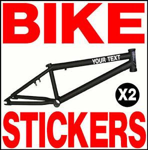 X CUSTOM VINYL BIKE STICKERS GIANT BMX CYCLE HELMET EBay - Bicycle stickers custom