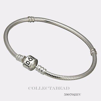 Authentic Pandora Sterling Silver Bracelet with Pandora Lock 6.7 590702HV