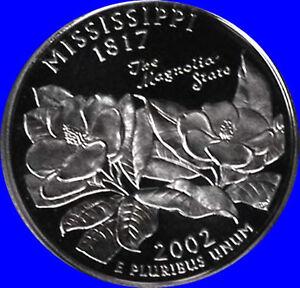 2002 s clad mississippi state quarter deep cameo gem proof ebay image is loading 2002 s clad mississippi state quarter deep cameo publicscrutiny Gallery