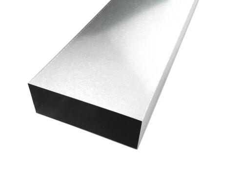 Dunstabzug L = 1000mm Flachkanal Stahl verzinkt für Wohnraumlüftung B = 180mm