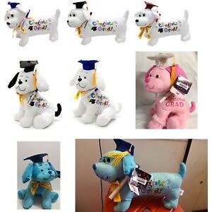 Graduation-Stuffed-Dog-Plush-with-Pen-034-Congrats-Grad-034-Choose-Your-Character