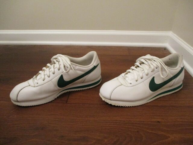 lowest price 72815 c3de6 Classic Used Worn Size 13 Nike Cortez Basic Leather  06 Shoes White   Green