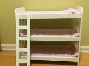 Baby Doll Bunk Beds Bed Fits American Girl Triple Ladder Bedding