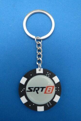 SRT8 SRT-8 #1 LOGO POKER CHIP DICE KEYRING KEY RING CHAIN #204