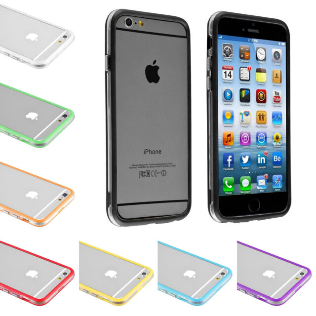 For iPhone 4S 5S 5C 6 6S Plus Crystal Clear Hybrid Soft TPU Bumper Case Cover