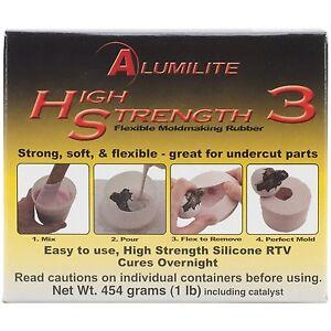 Alumilite High Strength 3 Liquid Mold Making Rubber Pink 1 lb Silicone RTV NEW