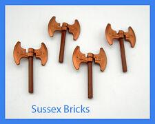 Lego 4x Double Headed Dwarf Viking Copper Battle Axes - Castle Hobbit Lord Rings