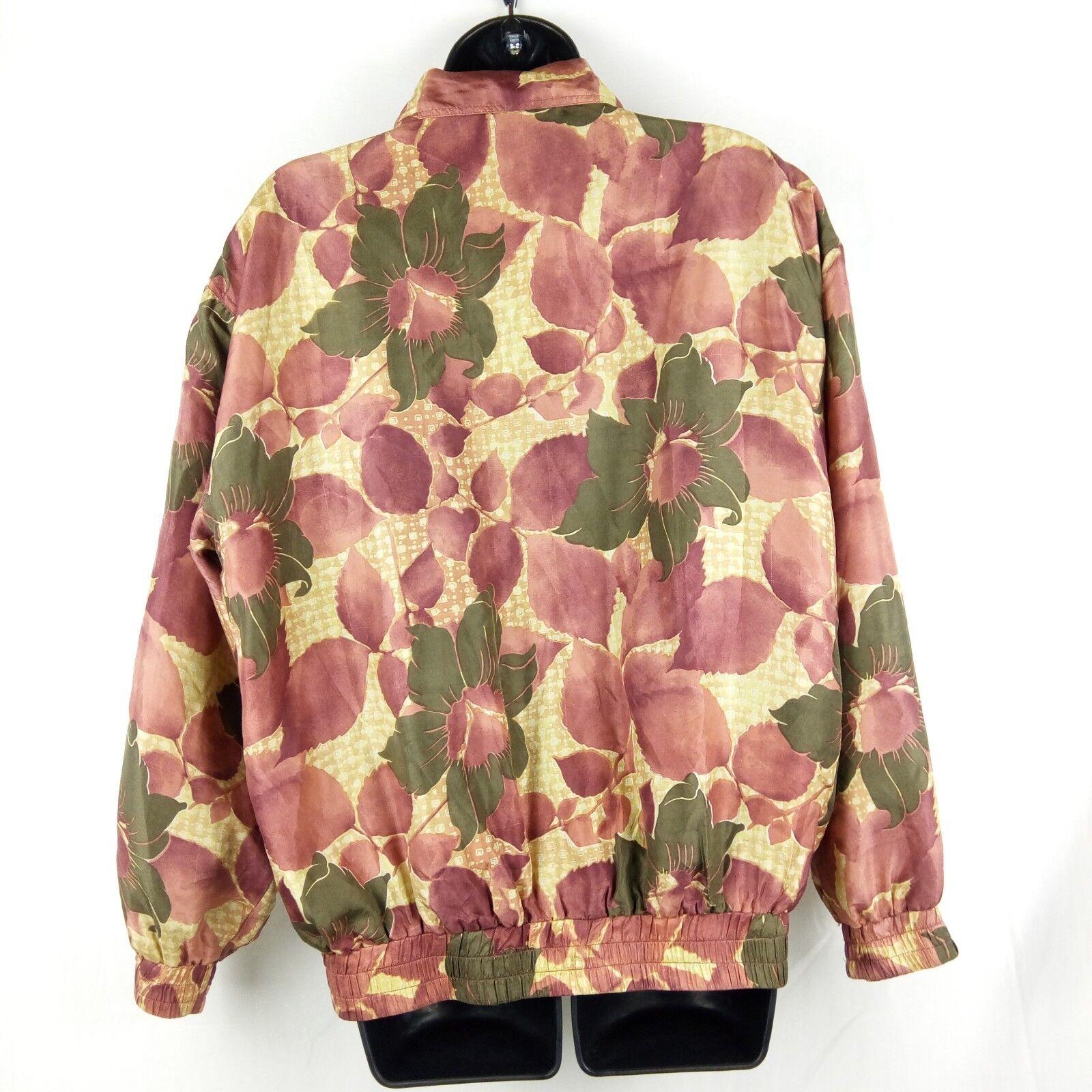 Fuda International Bomber Jacket Women Size M Pin… - image 3
