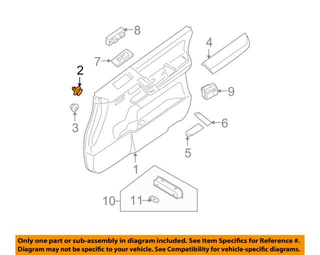 NEW 10pcs Door Panel Retainer Clips For Nissan and Infiniti 80999-VE000