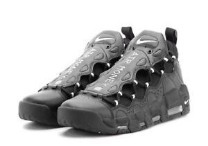 041775155bf Nike Air More Money Black Metallic Silver Uptempo Pippen Basketball ...