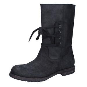 0df0a07738 Dettagli su scarpe uomo MOMA 42 EU stivaletti nero camoscio BY921-42